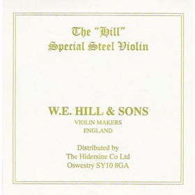 Hill Violin String E. Loop End. Strong